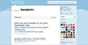 kanalen.tv twitterprofil